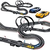 MAOXIAN Kids Toy-Electric Powered Slot Car Race
