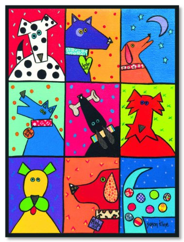 Dog Patch Pop Art by Susan Kline Art Print 12x16
