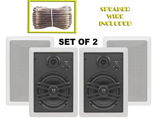 3 Way Flush Mount - Yamaha Custom Easy-to-install In-Wall Flush Mount 3-Way 150 watts Natural Sound Speaker Set (Pair of 2) with a 1