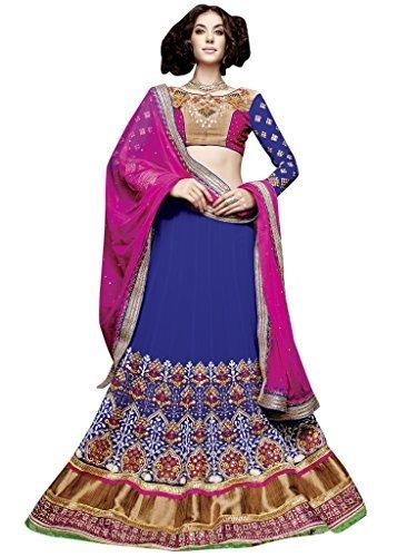 Vibes Women's Fashionable Net Georgette Un-Stitched Party Wear Lehenga Choli …