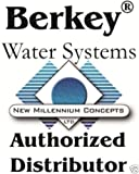 2 Big Berkey - British Berkefeld 9' Ceramic Replacement Filters & 2 PF-4 Fluoride Filters