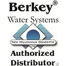 Travel Berkey Water Filter Stainless Steel Bundle: 2 Black Filters, Stainless Steel Spigot, 1 Stainless Steel Water Bottle (1.5 Gallon Travel Berkey)