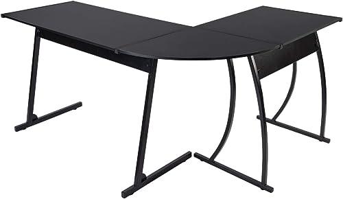 CHADIOR L Shaped Corner Computer Gaming Desk 58″L x 44″W Modern Workstation Table