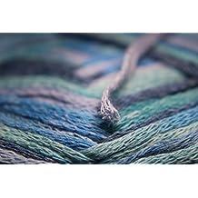 LAMINATED POSTER Thread Bändchengarn Grey Wool Hobby Loop Blue Poster Print 24 x 36