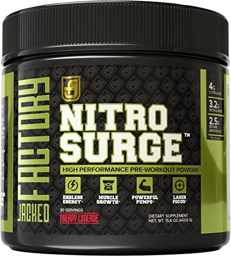 NITROSURGE Pre Workout Supplement - Endless Energy & More Strength