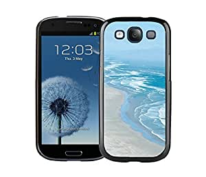 Elegant Samsung Galaxy S3 Case Durable Soft Silicone TPU Beautiful Beaches Coastline Black Cell Phone Case Cover Protector