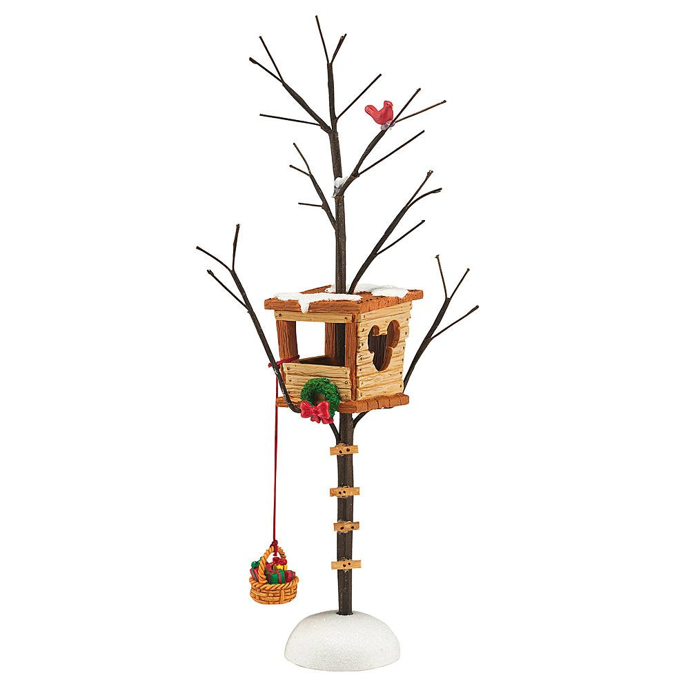 Mickey's Christmas Tree House Village Figurine