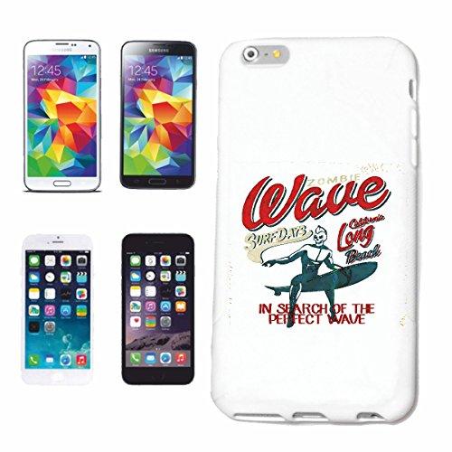 caja del teléfono iPhone 6S ZOMBI WAVESURFER DÍAS DE LONG BEACH CALIFORNIA BEACH SURFING TABLAS LONGBOARD olas de surf Beginner Shop Caso duro de la cubierta Teléfono Cubiertas cubierta para el Appl