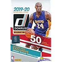 2019/20 Panini Donruss NBA Basketball HUGE 50 Card Factory Sealed HANGER Box with EXCLUSIVE GREEN FLOOD PARALLELS! Look for ROOKIES & AUTOS of ZION WILLIAMSON, Ja Morant,RJ Barrett & More! WOWZZER!