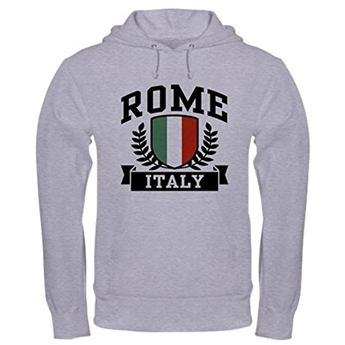 CafePress Rome Italy Hooded Sweatshirt Pullover Hoodie, Classic & Comfortable Hooded Sweatshirt Heather Grey (Sweatshirt Italy Classic)