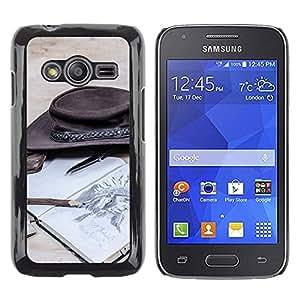 Print Motif Coque de protection Case Cover // M00154390 Vaquero Western West Sombrero libro // Samsung Galaxy Ace4 / Galaxy Ace 4 LTE / SM-G313F