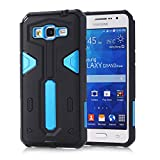 Grand prime Case,Galaxy G530 Case, LUOLNH [Defender II] Tough Shockproof Armor Hybrid Rugged Hard Protective Case for Samsung Grand Prime G530H/G5308W (Blue)