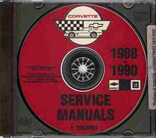 1988, 1989 & 1990 CORVETTE REPAIR SHOP & SERVICE MANUAL CD - edition covers all 1988-1990 Chevrolet Corvette models including coupe, convertible and Anniversary edition