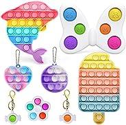 AYGXU Fidget Toys , Fidget Pack,Pop Bubble Sensory Fidget Toy, Simple dimple Toy ,Squeeze Sensory Toy, Silicon