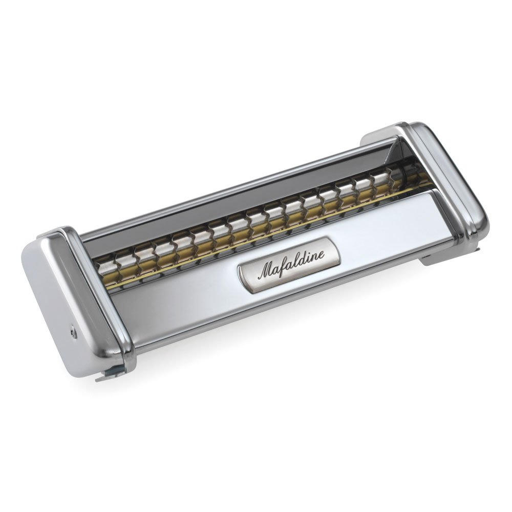 Marcato 8351 Mafaldine Cutter Attachment, Made in Italy, Works with Atlas Pasta Machine 150, Maker, Stainless Steel by Marcato
