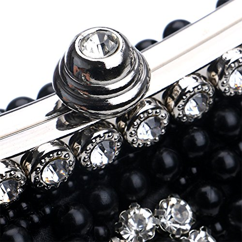 Handbag Handmade Black Women's Wedding Evening Rhinestone Clutch Purse Party MGH fwH1Y51