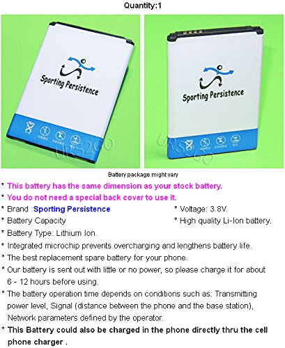 Brand NEW 2500mAh 3.8V Extended Slim Battery For Boost Mobile LG Tribute 2 LS665 Android Smartphone