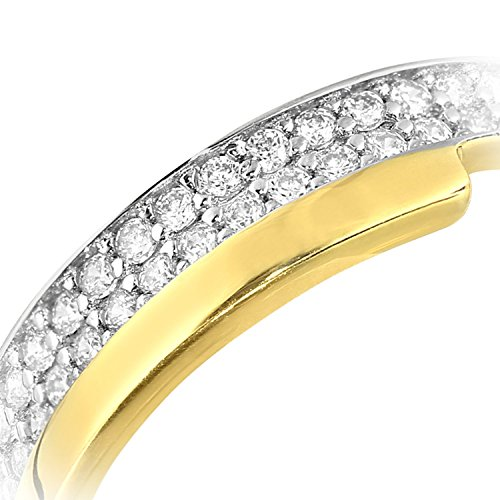 Citerna femme 9carats (375/1000) Or jaune|Gold Rond Blanc Zirkonia FINERING