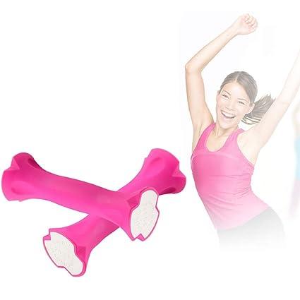 LIOOBO Un par 0,7 kg de Ejercicio Mancuernas Ergonómicas Barra de Mano de Barras para Ejercicio de Yoga para Mujeres: Amazon.es: Hogar