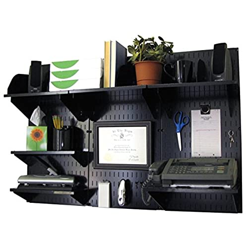 Wall Control 10 OFC 300 BB Office Wall Mount Desk Storage And Organization  Kit, Black