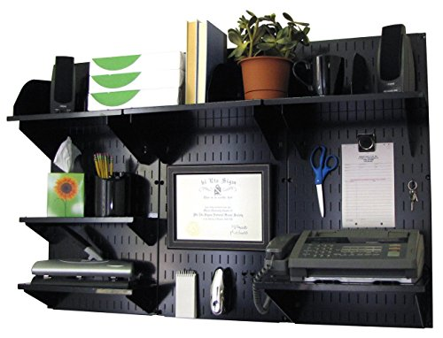 Wall Control 10-OFC-300 BB Office Wall Mount Desk Storage and Organization Kit, Black by Wall Control