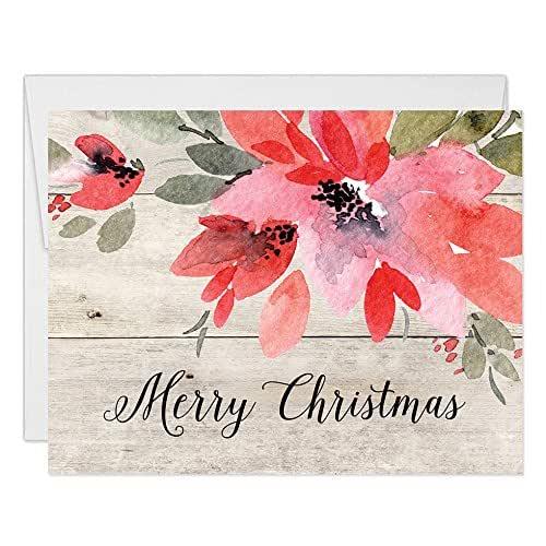Custom Shabby Chic Wood Photo Christmas Cards