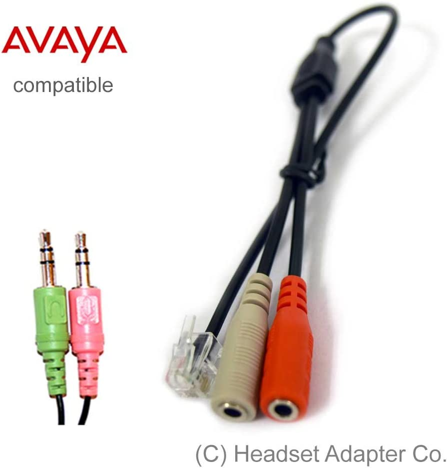Connect a PC Headset to Avaya Phone Avaya Headset Adapter