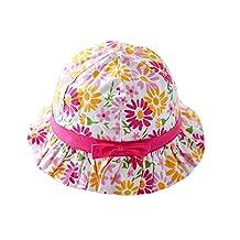 Genda 2Archer Baby Girls Bucket Style Pretty Cute Floral Summer Sun Hat