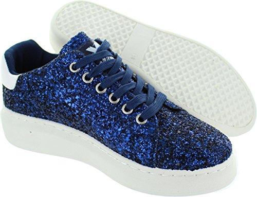 Xti Zapato Sra, Sneaker donna blu Blue