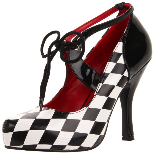 Funtasma Women's Harlequin-03/BW Pump, Black/White Black/White Diamond Print,8 M (Harlequin Shoes)