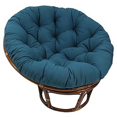 Blazing Needles Solid Twill Papasan Chair Cushion, 48  x 6  x 48 , Indigo