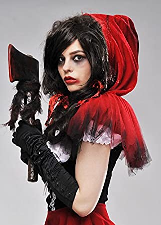 Zombie Red Riding Hood Short Net Cape