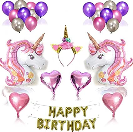 Image Unavailable Not Available For Color Unicorn Balloon Birthday Decor Kids Happy Letter Balloons