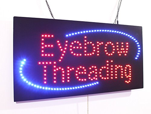 Eyebrow Threading Sign, Super Bright LED Open Sign, Store Sign, Business Sign, Windows Sign, LED Neon Sign