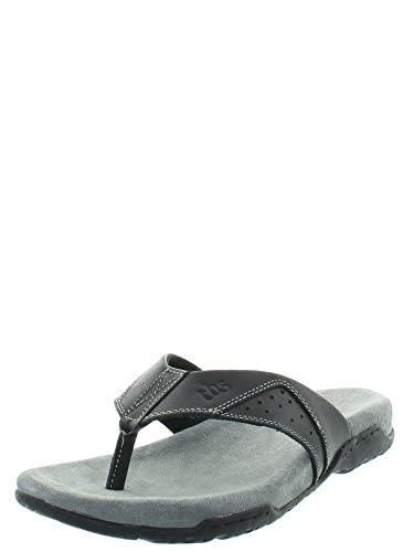 TBS Tongs  en cuir ref_tbs43758 Noir noir - Chaussures Sandale Homme