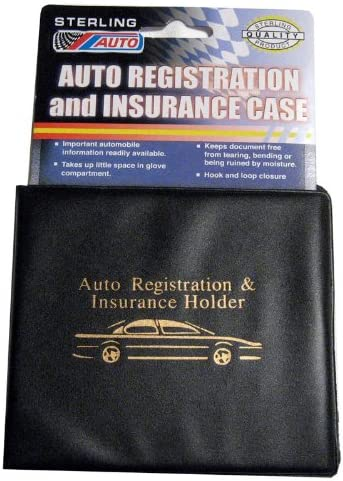 6 Pc Auto Car Truck Registration Insurance Document Holder Wallet Black Case ID