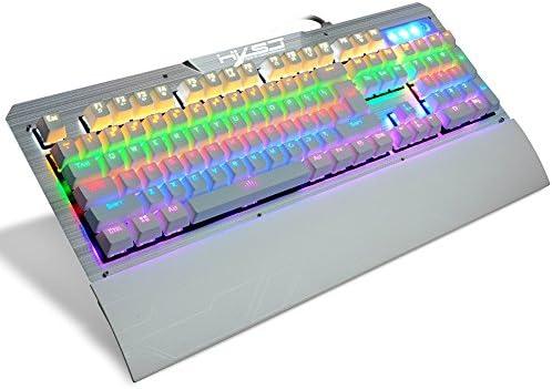 Danankan メカニカルゲーム用キーボード防水ブルースイッチ104ダブルインジェクションキー (Color : ホワイト)