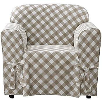Amazon Com Surefit Buffalo Check Cotton Chair Slipcover