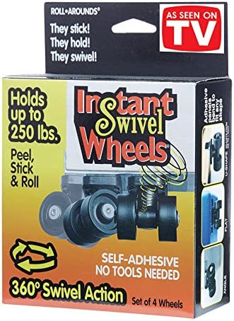 Furniture 8PCS Baby Toys Car Cloth Bin Paste Pulley Paste Type Universal Pulley DIY Self Adhesive Mini Casters Wheels 360/º Storage Box Stick-on Wheels for Trash Can Moving Carton