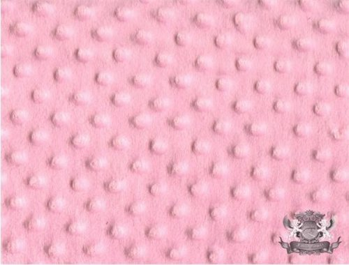 (1 X Minky Dimple Dot LIGHT PINK Fabric By the Yard)