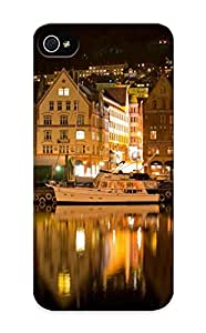 Ideal Gift - Tpu Shockproof/dirt-proof Bergen Norway Night Cover Case For Iphone(5/5s) With Design