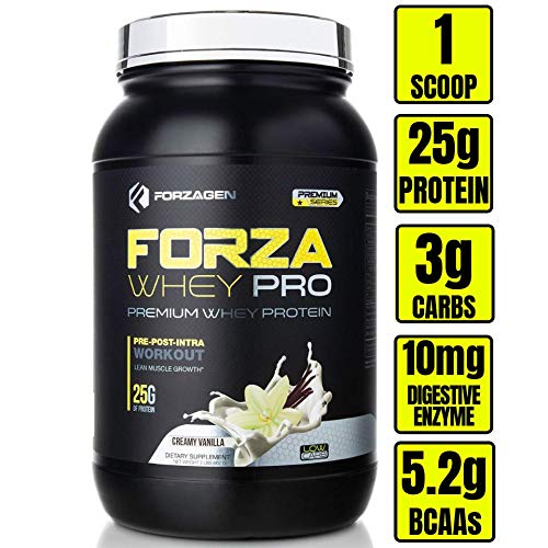 Forzagen Protein Powder 2 Lbs - Best whey Protein Shake   Weight Gainer   Increase Muscle Mass   Meal Replacement   Low Carb Protein Powder   Pre Workout and Post Workout