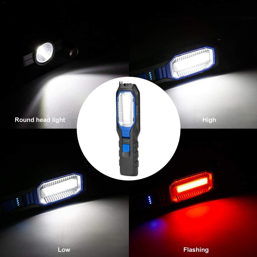 runnerequipment Torcia a LED con Base Magnetica Lampada da Lavoro a LED COB Ricaricabile Luminosa per Uso di Emergenza per la Riparazione di Camper