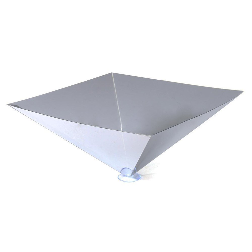 SODIAL(R) Portable 3D Holographic Hologram Display Pyramid Stand Projector For iPad Tablet Tea-color