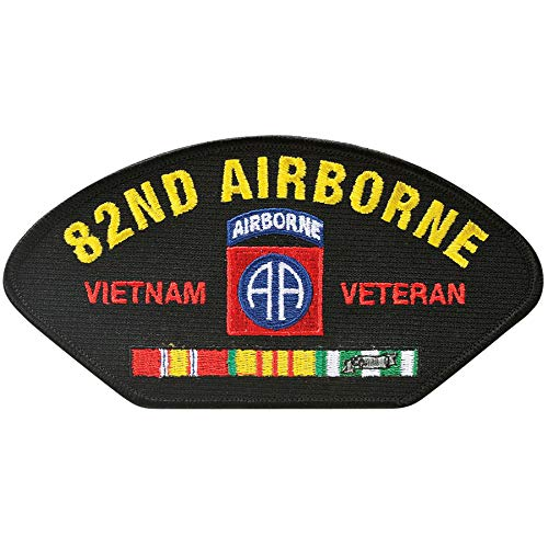 (Medals of America 82nd Airborne Vietnam Veteran Hat Patch One Size Black)