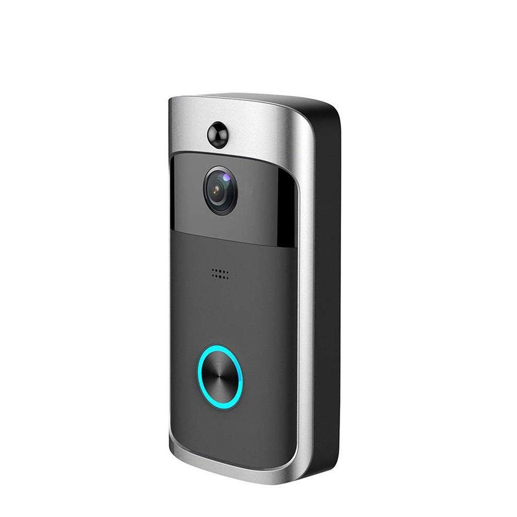 Yirind WiFi Smart Video Doorbell 720P HD Wireless Remote Home Security Doorbell with Two-Way Talk,166° Super Wide-angle Lens,Motion Detection & Night Vision,Black