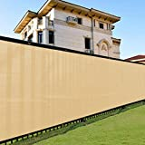 Shade&Beyond 6' x 50' Privacy Fence Screen Sand Heavy Duty 200 GSM