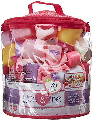 You & Me 70-Piece Doll Care Accessories Cylinder