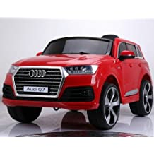 LICENSED AUDI Q7 STYLE RIDE ON CAR, WITH REMOTE CONTROL. 12V BATTERY, RED