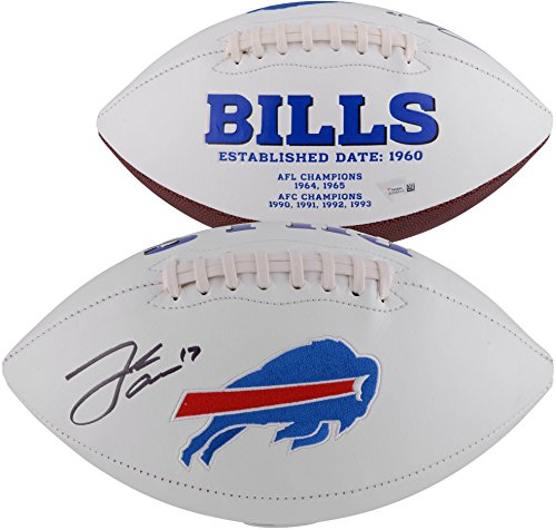 (Josh Allen Buffalo Bills Autographed White Panel Football - Fanatics Authentic Certified - Autographed Footballs)